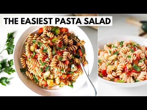 easy-pasta-salad-recipe- -how-to-make-a-simple-pasta-salad- -only-8-ingredients!