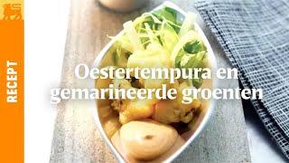 Oestertempura en gemarineerde groenten