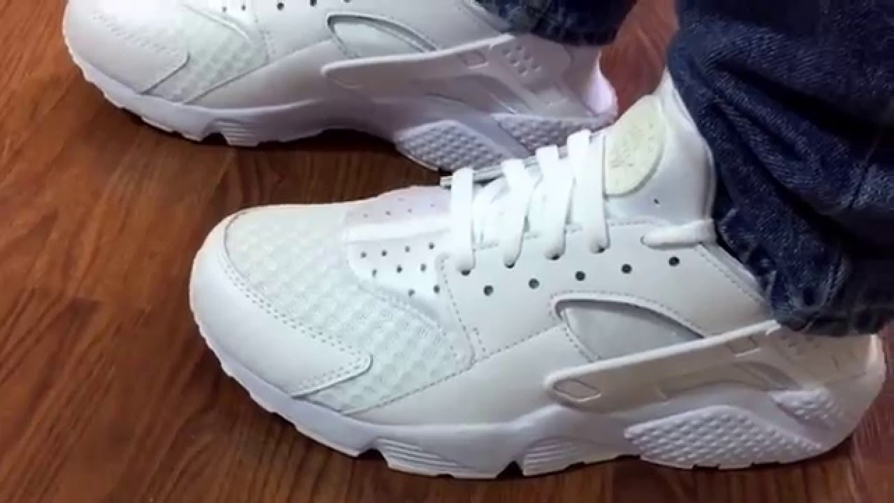 73da044cbf82 Nike Air Huarache Triple white review - YouTube