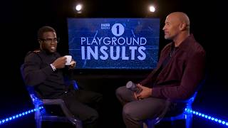 Dwayne Johnson and Kevin Hart Insult Each Other   CONTAINS STRONG LANGUAGE