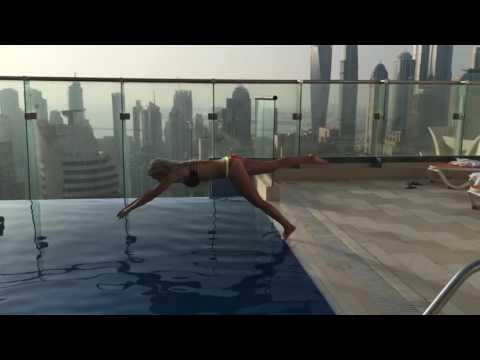 Dubai private pool on the 40th