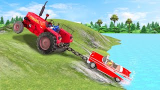 Tractor Car Rescue ट्रैक्टर कार बचाव Funny Comedy Story Hindi Kahani हिदी