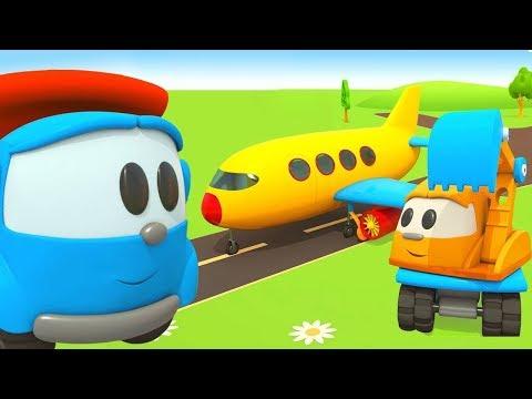 Çizgi Film. Leo Robotlar Için Yolcu Uçağı Birleştiriyor! Küçük çocuklar Için