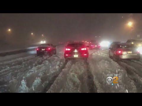 Hundreds Of Drivers Stranded In N.J.
