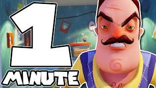 HELLO NEIGHBOR COMPLETE IN 1 MINUTE (Alpha 2) - Speed Run World Record