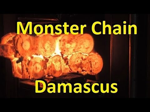 Forging Monster Chain Damascus
