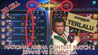 HEBOH !!! Indonesia Menang Telak 26-0 atas Jepang di Mobile Legend Contest Arena Match 2
