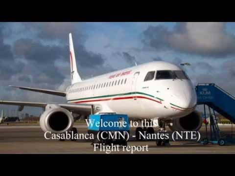 Royal Air Maroc - BUSINESS CLASS Flight Report : Casablanca (CMN) to Nantes (NTE) Embraer 190