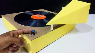 DIY Mind Blowing Vinyl Record Player and Turntable