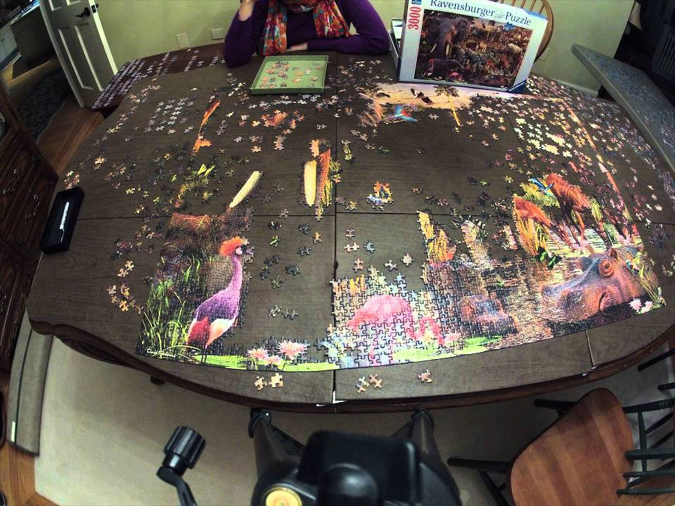 47 second time lapse of 3000 piece puzzle youtube. Black Bedroom Furniture Sets. Home Design Ideas