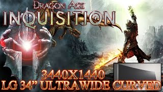 """DRAGON AGE: INQUISITION PC 3440X1440 GAMEPLAY (LG 34"""" ULTRAWIDE CURVED)"""