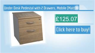 Under Desk Pedestal with 2 Drawers, Mobile (Matt)