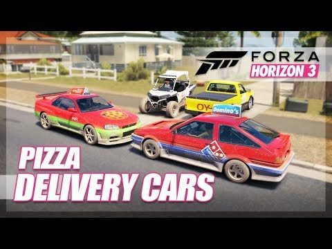 Forza Horizon 3 - Best Pizza Delivery Car! (House Delivery Challenge)