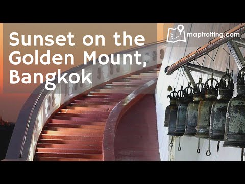 Sunset on the Golden Mount (Wat Saket) in Central Bangkok