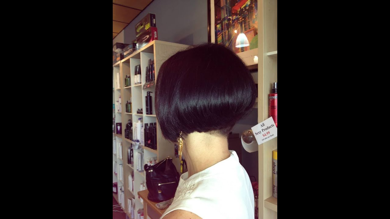 Hair Makeover  Long to Bob Haircut with a Buzzed Nape