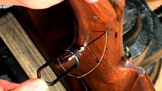 Gunsmithing - How to Checker a Gun Stock - Winchester Model 67 Rifle