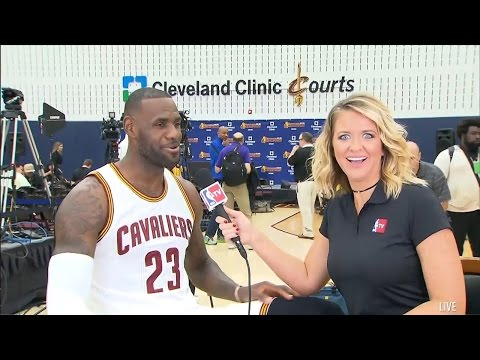 LeBron James Interview with Kristen Ledlow | Cavaliers | Sep 26, 2016 | 2016 NBA Media Day