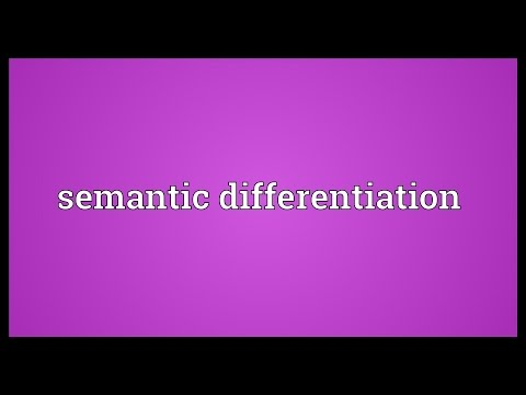 Semantic differentiation Meaning