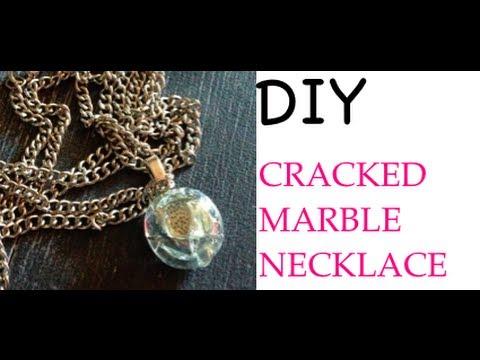 diy:-cracked-marbles-&-pendants♡-theeasydiy-#fashiondiy