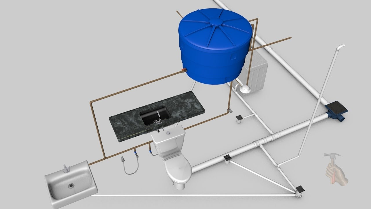 Famosos Como fazer a instalação de agua fria e esgoto de banheiro cozinha  UI19