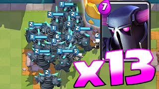 Clash Royale - x13 PEKKA WAR!! MASS GAMEPLAY SERIES!! (New Record!?!)