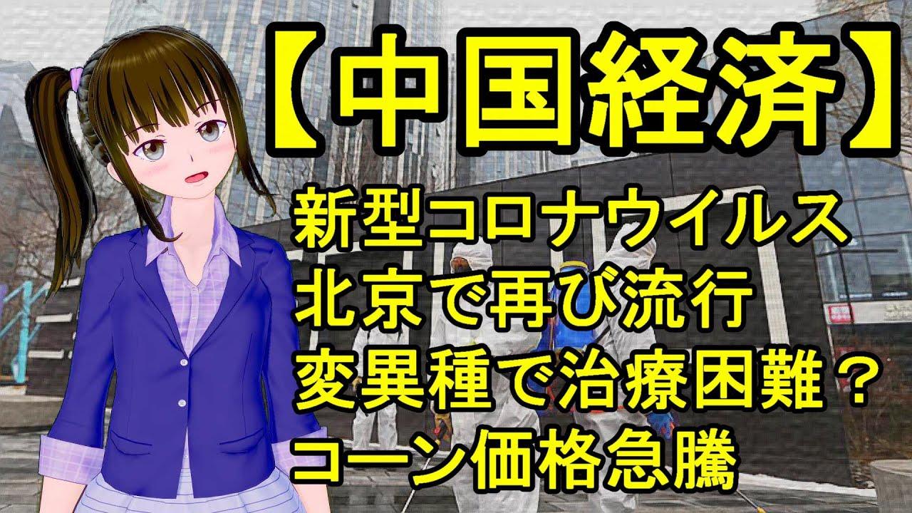 中国 経済 新型コロナウイルス 北京 で再び流行 変異種で治療困難? コーン価格 急騰 三峡ダム や 湖南 貴州 武漢 の洪水も影響