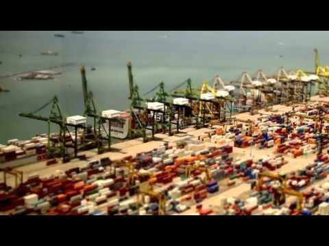 Incredible Time Lapse Footage - Port of Singapore