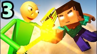 BALDI'S BASICS VS HEROBRINE CHALLENGE 3! (official) Baldi Minecraft Animation Horror Game