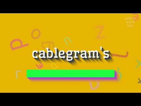 """How to say """"cablegram's""""! (High Quality Voices)"""
