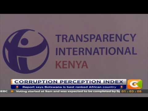 Kenya improves in latest corruption report released by Transparency International