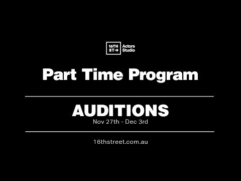 16th Street Actors Studio | Part Time Program 2018