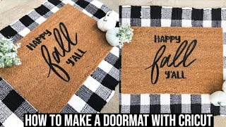 HOW TO MAKE A DOORMAT WITH THE CRICUT | FREEZER PAPER AND FLEX SEAL METHOD