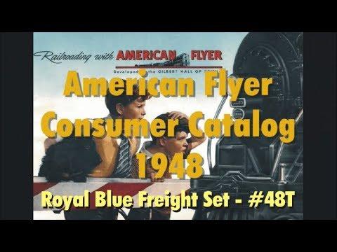 American Flyer - 1948 Consumer Catalog - Royal Blue Train Set 48T
