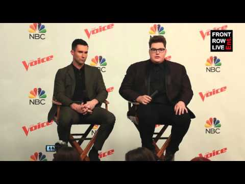 Jordan Smith & Adam Levine Press Conference The Voice Season 9 Finale