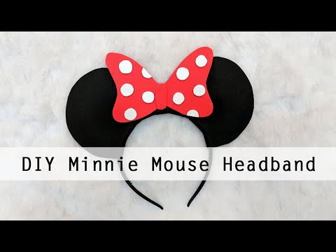 DIY Minnie Mouse Headband (WITH FREE TEMPLATES) | DISNEY-INSPIRED DIY