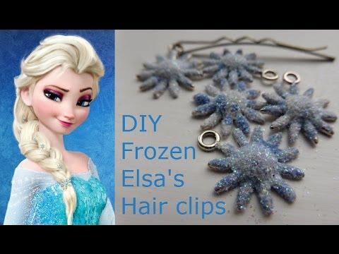 'frozen' elsa diy hair clips