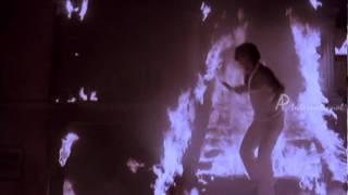 Sakalakala Vallavan Tamil Movie Scene   Kamal Haasan Fire stunt   Ambika   Ilayaraja