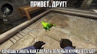 Гайд: как сделать зеленых куриц в CS:GO.