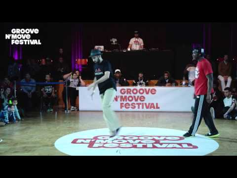 GROOVE'N'MOVE BATTLE 2017 - 1/4 Final Popping - Sally sly vs Boogito