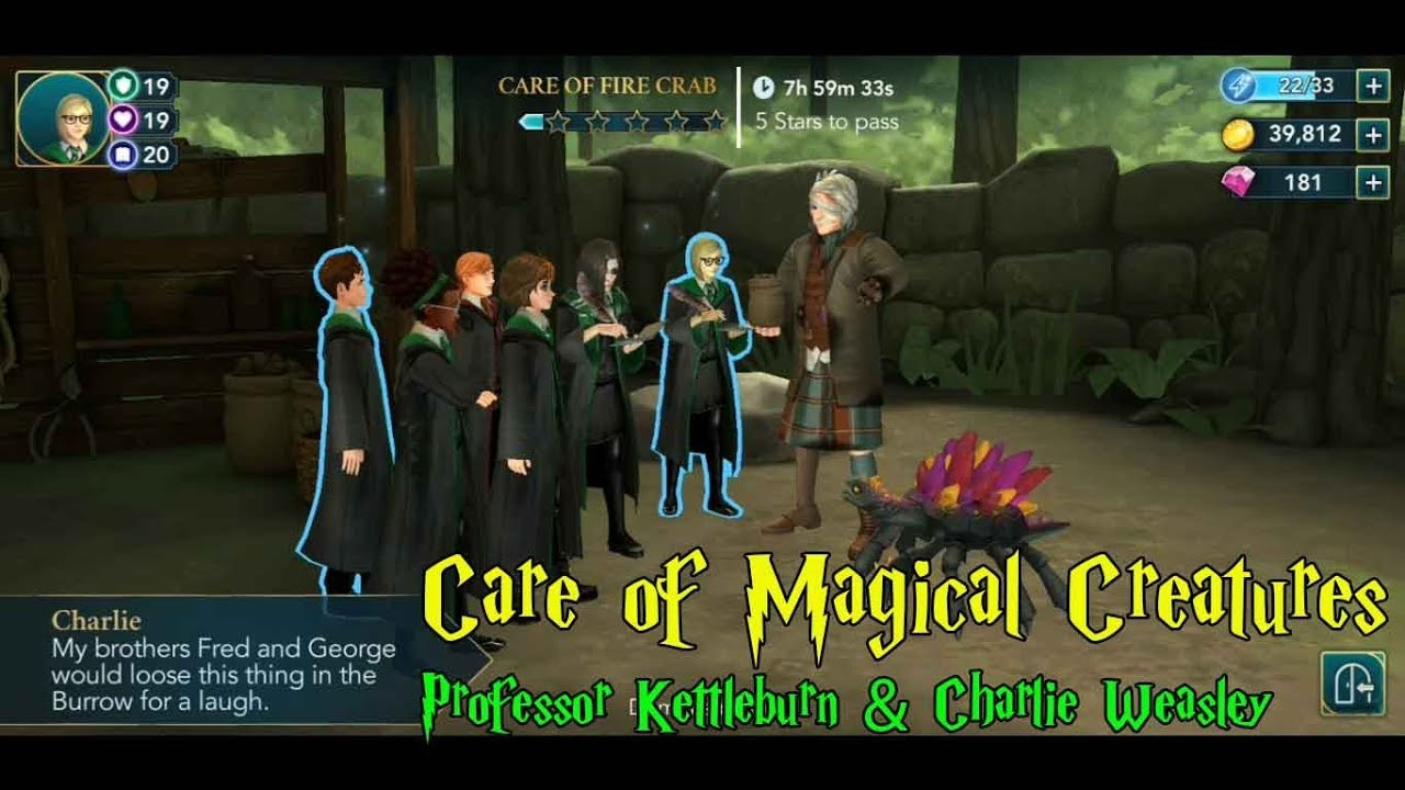 Harry Potter Hogwarts Mystery Care Of Magical Creatures Gameplay Youtube