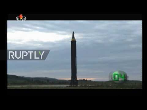 North Korea: State TV footage shows missile launch over Japan