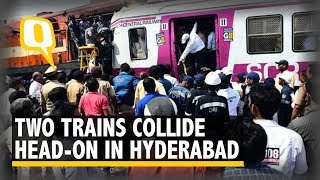 Two Trains Collide at Hyderabad's Kacheguda Railway Station | The Quint