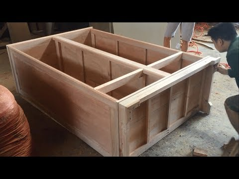 How To Build Wardrobe Extremely Fast and Simple - Woodworking Skills Very Smart of Carpenter