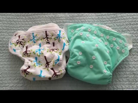 Comparison between Thirsties Pocket Diaper and All In One