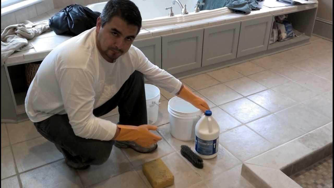 Cleaning Floor Grout Youtube