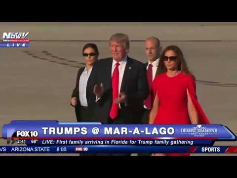 WATCH: Donald Trump & Melania Trump REUNITE in Florida for Mar-A-Lago Weekend as Crowds Cheer (FNN)