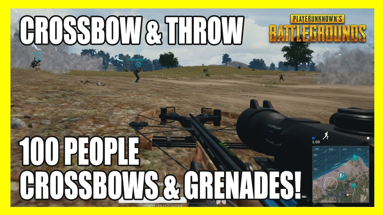 [PUBG] Crossbow and Throw: 100 People, Crossbows & Grenades Only! PUBG Reddit Custom Games