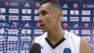Izjava Košarkaša Partizana Markusa Pejdža Posle Pobede u Viljnusu   SPORT KLUB KOŠARKA