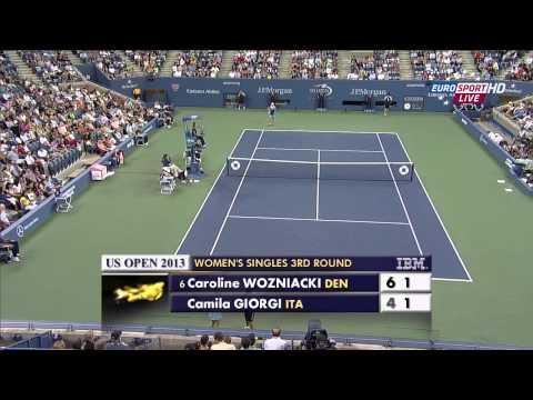 US Open 2013 R3 Camila Giorgi vs Caroline Wozniacki HD