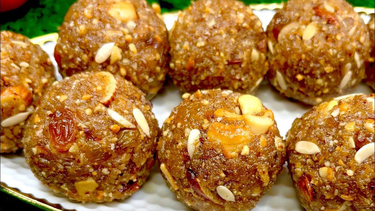नारियल के लड्डू |Tasty Coconut Laddu recipe| No Sugar Coconut Mixed Nuts Ladoo |Easy Laddu recipe